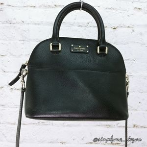 Kate Spade Black Leather Dome Crossbody